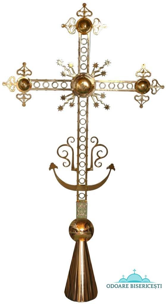 Cruce turlă aurită 287X146 cm
