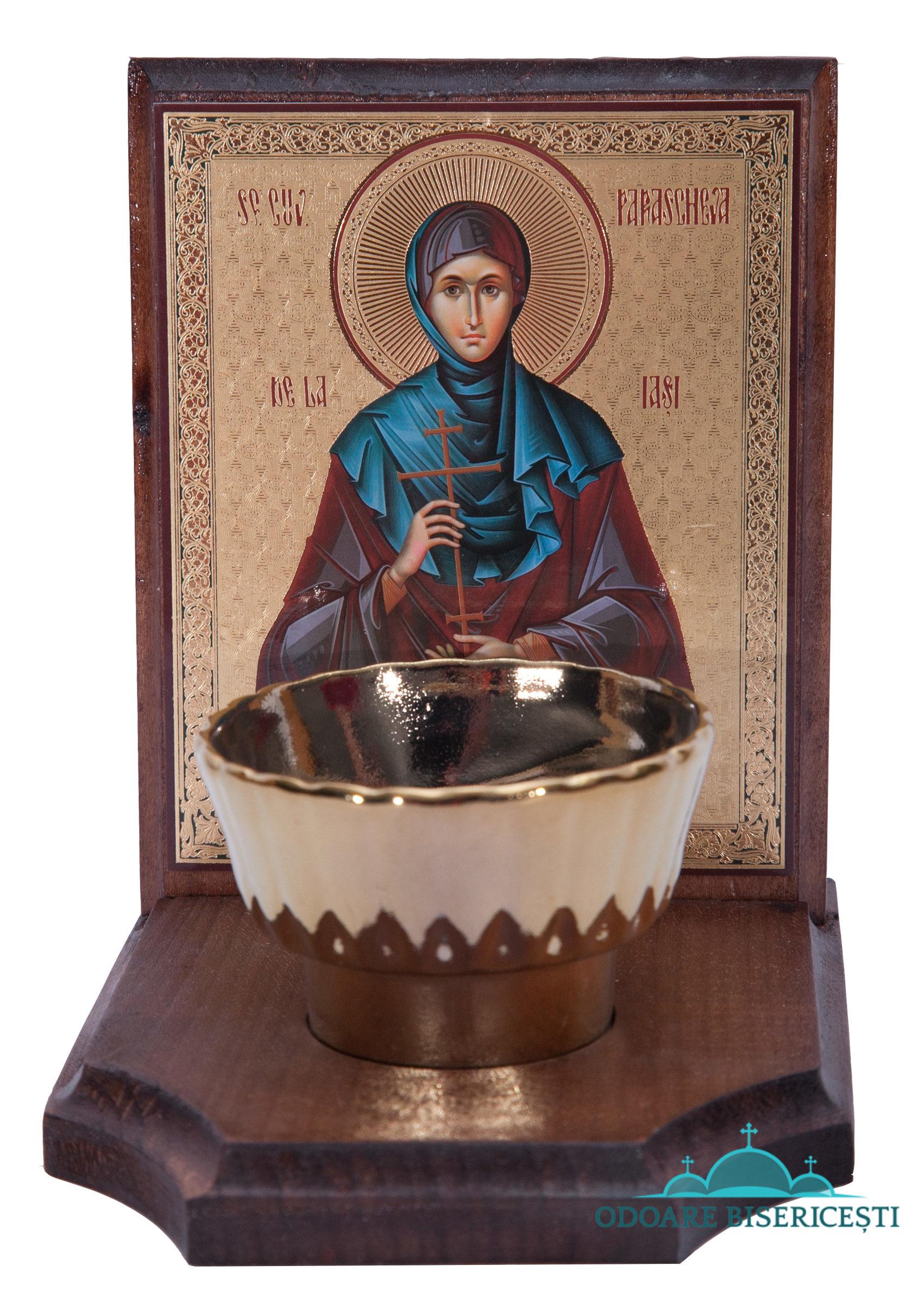 Icoana candela Sfanta Parascheva